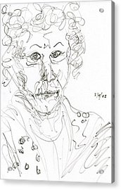 Miss Marple Sketch II Acrylic Print by Rachel Scott