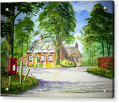 Miss Marples Cottage  St Mary-meade Acrylic Print by Ian Scott-Taylor