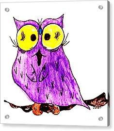 Miss Owl Acrylic Print by Donna Daugherty
