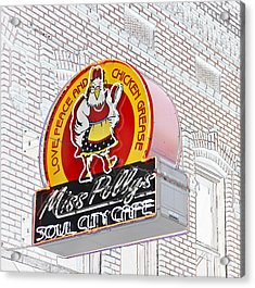 Miss Polly's Soul Cafe Acrylic Print