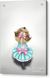 Miss Pretty Acrylic Print