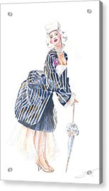 miss Ro co co Acrylic Print by Jovica Kostic