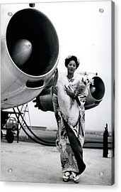 Miss Universe Opens Polar Route Of Air Franc Acrylic Print by Retro Images Archive