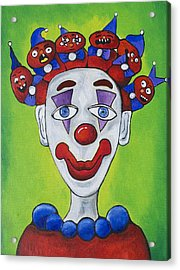 Miss.curly Clown Acrylic Print by Patricia Arroyo