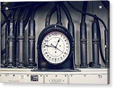 Missile Control Room Clock Acrylic Print
