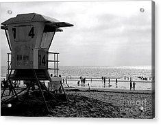 Mission Beach San Diego Acrylic Print by David Gardener