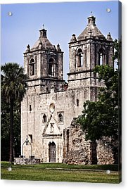 Mission Concepcion Acrylic Print by Andy Crawford