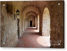 Mission Concepcion Promenade Walkway In San Antonio Missions National Historical Park Texas Acrylic Print by Shawn O'Brien