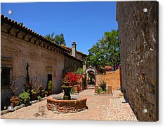 Mission Courtyard Acrylic Print