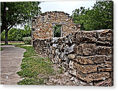 Mission Espada Ruins Acrylic Print by Andy Crawford