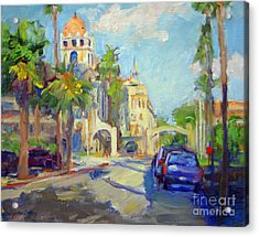 Mission Inn View On Sixth Street Acrylic Print
