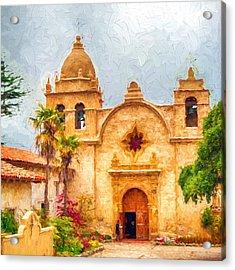 Mission San Carlos Borromeo De Carmelo Impasto Style Acrylic Print