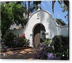 Mission San Diego Garden Gate Acrylic Print by Robert Gerdes