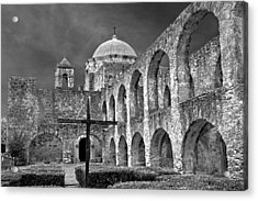 Mission San Jose Arches Bw Acrylic Print