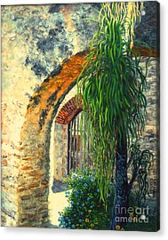 Mission San Jose Acrylic Print by Beverly Theriault