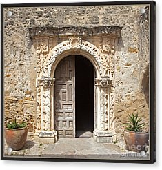 Mission San Jose Chapel Entry Doorway Acrylic Print