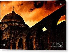 Mission San Jose In San Antonio Texas Acrylic Print by Gerlinde Keating - Galleria GK Keating Associates Inc