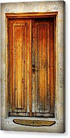 Mission San Juan Capistrano Door -- San Antonio Acrylic Print
