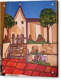 Mission San Luis Opispo Acrylic Print by Michelle Gonzalez
