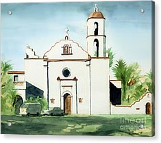 Mission San Luis Rey Colorful II Acrylic Print by Kip DeVore