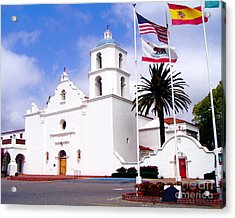 Mission San Luis Rey Acrylic Print by Jerome Stumphauzer