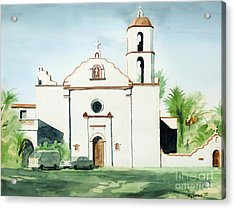 Mission San Luis Rey  Acrylic Print by Kip DeVore