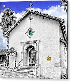 Mission San Rafael Arcangel Acrylic Print by Ken Evans