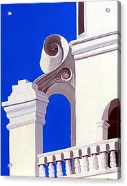 Mission San Xavier Del Bac Acrylic Print by Karyn Robinson