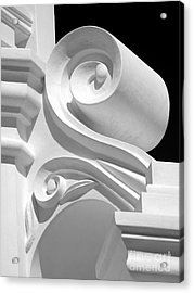 Mission Shapes And Shadows - Shades Of Grey Acrylic Print by Douglas Taylor