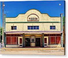 Mission Theater Acrylic Print by Gary Richards