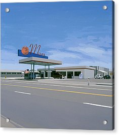 Acrylic Print featuring the painting Mission To Mars by Scott Listfield