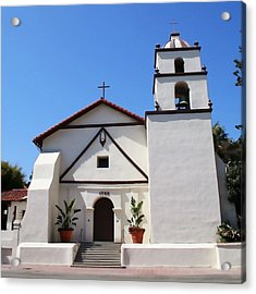 Mission Ventura Acrylic Print by Art Block Collections