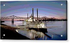 Mississippi Casino Boat Acrylic Print by Charles Shoup