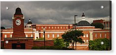 Mississippi College Clock Acrylic Print by Donnell Carr