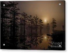 Mississippi Foggy Delta Swamp At Sunrise Acrylic Print