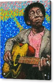 Mississippi John Acrylic Print by Kevin Rogerson