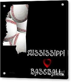 Mississippi Loves Baseball Acrylic Print