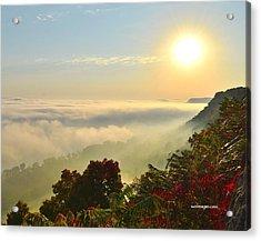 Mississippi River Fog Acrylic Print
