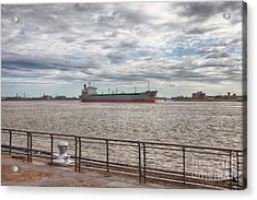 Mississippi River In New Orleans Acrylic Print by Kay Pickens