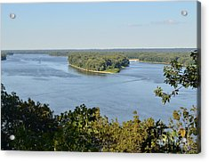 Mississippi River Overlook Acrylic Print by Luther Fine Art
