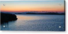 Mississippi River Sunrise Acrylic Print by David Yunker