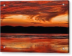Acrylic Print featuring the photograph Mississippi River Sunset by Don Schwartz