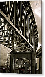 Mississippi Truss In New Orleans Acrylic Print by Ray Devlin