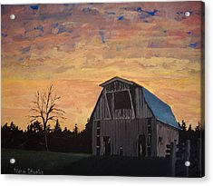 Acrylic Print featuring the painting Missouri Barn by Norm Starks