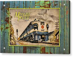 Missouri Pacific Lines Sign Engine 309 Dsc02854 Acrylic Print