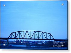 Missouri River At Dusk Acrylic Print