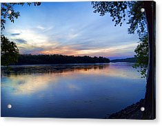 Missouri River Blues Acrylic Print by Cricket Hackmann