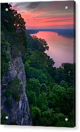 Missouri River Bluffs Acrylic Print