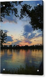 Missouri River Glow Acrylic Print by Cricket Hackmann