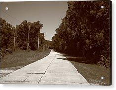 Missouri Route 66 2012 Sepia. Acrylic Print by Frank Romeo